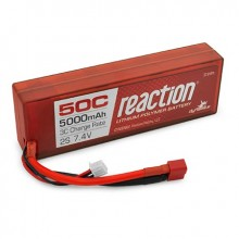 Reaction Hardcase 7.4volt 5000mAh 2S 50C LiPo with Deans connector