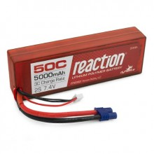 Reaction Hardcase 7.4volt 5000mAh 2S 50C LiPo with EC3 connector