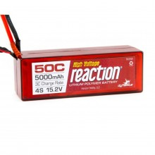Reaction 15.2V 5000mAh 4S 50C LiPo Hardcase: EC5