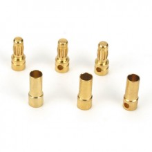 Gold Bullet Connector Set 3.5mm (3)