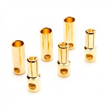 Gold Bullet Connector Set 5.5mm (3)