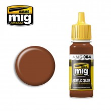 Ammo Mig Jimenez Acrylic 17ml Paint EARTH BROWN
