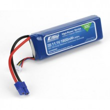 E Flite Lithium Polymer Battery 3s 1800mAh with EC3 fitted
