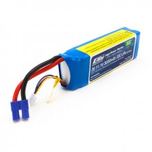 E Flite 3000mah 3S 11.1volt 30C LiPo 12AWG with EC3 Connector