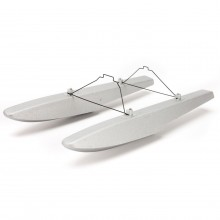 UMX Carbon Cub SS Float Set -silver finish 1 ONLY SET OF FLoats - NO FIXING BRACKETS