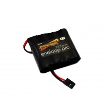 Eneloop Pro 2500mAh AA 4.8v Flat Receiver Battery Pack