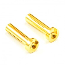LOW PROFILE 4.0MM MALE GOLD CONNECTOR (2) FOR RIGHT ANGLE