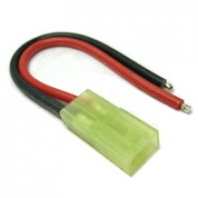 FEMALE MICRO TAMIYA CONNECTOR WITH 10CM 18AWG SILICONE WIRE