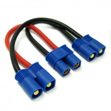 BATTERY HARNESS FOR 2 PACKS IN SERIES ADAPTOR for EC3 Plug