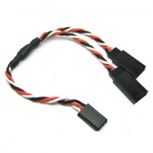 30CM 22AWG FUTABA TWISTED Y EXTENSION WIRE