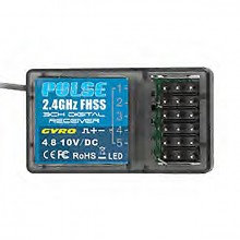 ETRONIX PULSE FHSS RECEIVER W/GYRO 2.4GHZ FOR USE With ET1132