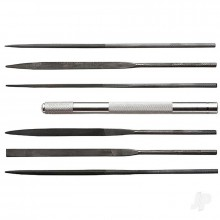 Assorted File Set with Handle Cut #2 with Square Round Halfround Equaling Knife and Flat (6pcs) (Carded)