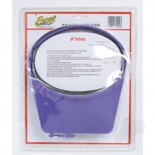 Excel Blades MagniVisor Deluxe Head-Worn Magnifier with 4 Different Lenses Purple (Boxed)