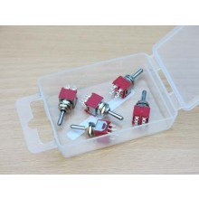 PACK OF 5 DPDT SUB MIN BIASED SWITCHES