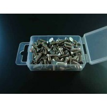 100 X M2 X 25MM CHEESE HEAD SS MACHINE SCREWS