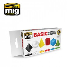 BASIC ACRYLIC COLOURS SET