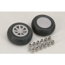 "57mm (21/4"") Smooth Tread Wheels  Pair"
