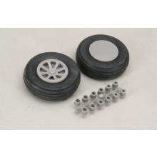 64mm Smooth Tread Wheels Pair