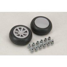 Scale Wheel-Diamond Tread (2 Inch/Pr)