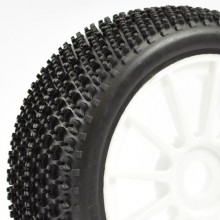 FASTRAX 1/8TH PREMOUNTED BUGGY TYRES 'TRI-PIN/12 SPOKE'