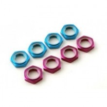 Wheel Nuts 17x1.25mm Serrated (4) Purple