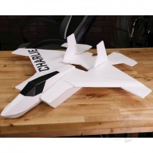 Flite Test Charlie Maker Foam Electric Airplane Kit (736mm)