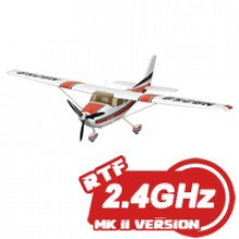 FMS Cessna 182 Mk II RTF Electric Aircraft WITH 2.4GHZ Radio System - Red