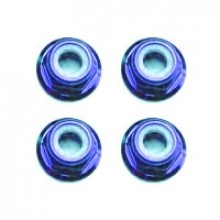 M3 BLUE FLANGED LOCKNUTS 4PCS