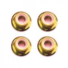 M3 GOLD FLANGED LOCKNUTS 4PCS