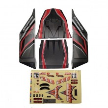 FTX DR8 BODY+DECAL(RED)