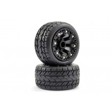 FASTRAX 1:16 EAGLE MOUNTED 8-SP BLACK (REVO/SUMM/SAV XS) TYRES & WHEELS PREMOUNTED