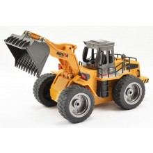 HUINA 2.4G 6CH RC BULLDOZER W/DIE CAST BUCKET - Readt to Shovel