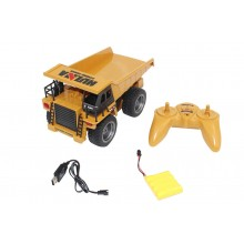 HUINA 2.4G 6CH RC DUMP TRUCK W/DIE CAST CAB - Ready to Dump