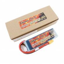 Gens ace Battery LiPo 2S 7.4V-2200-30C(XT60) 108x34x16mm 125g