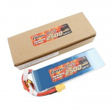 Gens ace Battery LiPo 2S 7.4V-2500-30C(XT60) 136x42x12mm 150g