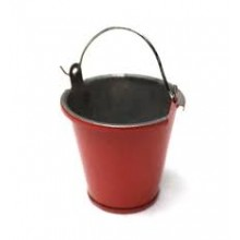 Racers Edge 1/10 Small Tin Pail/ Bucket - Red