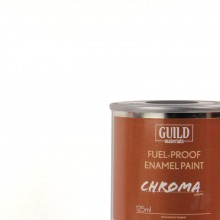 Gloss Enamel Fuel-Proof Paint Chroma White (125ml Tin)