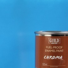 Gloss Enamel Fuel-Proof Paint Chroma Light Blue (125ml Tin)