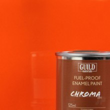 Gloss Enamel Fuel-Proof Paint Chroma Orange (125ml Tin)