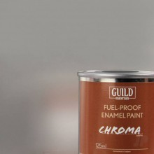 Gloss Enamel Fuel-Proof Paint Chroma Silver (125ml Tin)