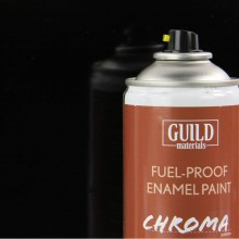 Gloss Enamel Fuel-Proof Paint Chroma Black (400ml Aerosol) GLDCHR6403 (FL6403)