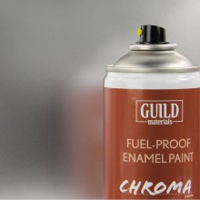 Gloss Enamel Fuel-Proof Paint Chroma Silver (400ml Aerosol) (FL6407)