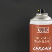Matt Enamel Fuel-Proof Paint Chroma Black (400ml Aerosol)