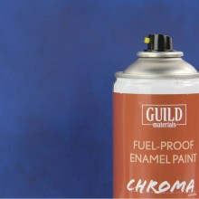 Matt Enamel Fuel-Proof Paint Chroma Dark Blue (400ml Aerosol)  (FL6504)