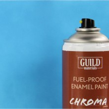 Matt Enamel Fuel-Proof Paint Chroma Light Blue (400ml Aerosol)