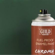 Matt Enamel Fuel-Proof Paint Chroma Dark Green (400ml Aerosol)