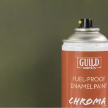 Matt Enamel Fuel-Proof Paint Chroma Olive Drab (400ml Aerosol) (FL6315)