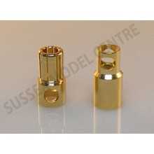 8mm Gold Connectors 1 pair