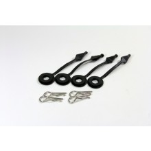 Bodypins and Holder (4 pcs.) 1:10 Short Course