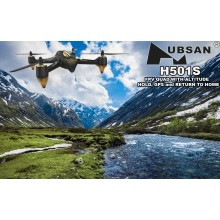 HUBSAN 501S X4 AIR BLACK FPV DRONE W/GPS 1080P 1KEY FOLLOW ME & HEADLESS